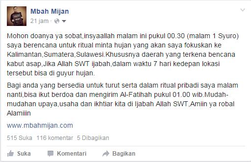 Mbah Mijan Facebook