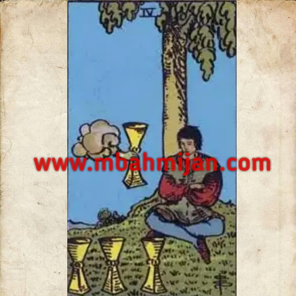 kartu tarot four of cups