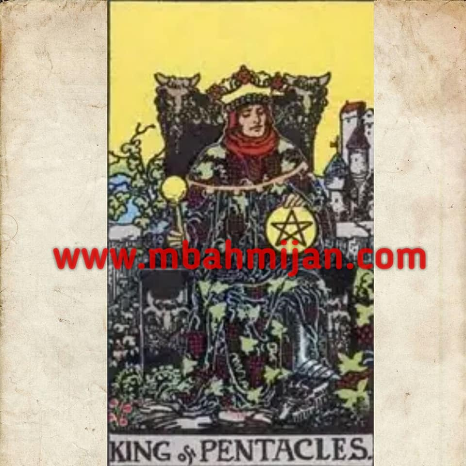 kartu tarot king of pentacles