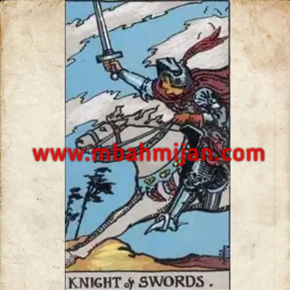 kartu tarot knight of swords