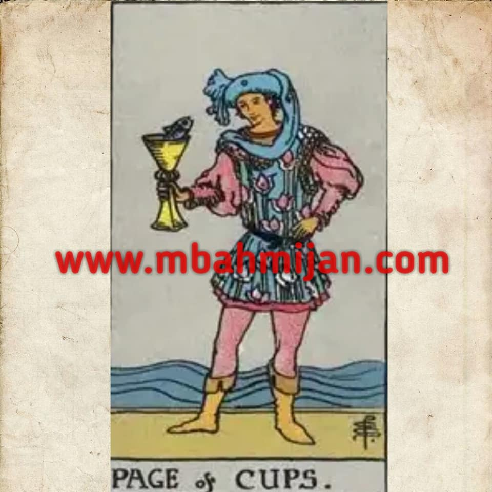 kartu tarot page of cups