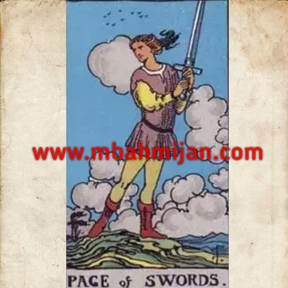 kartu tarot page of swords