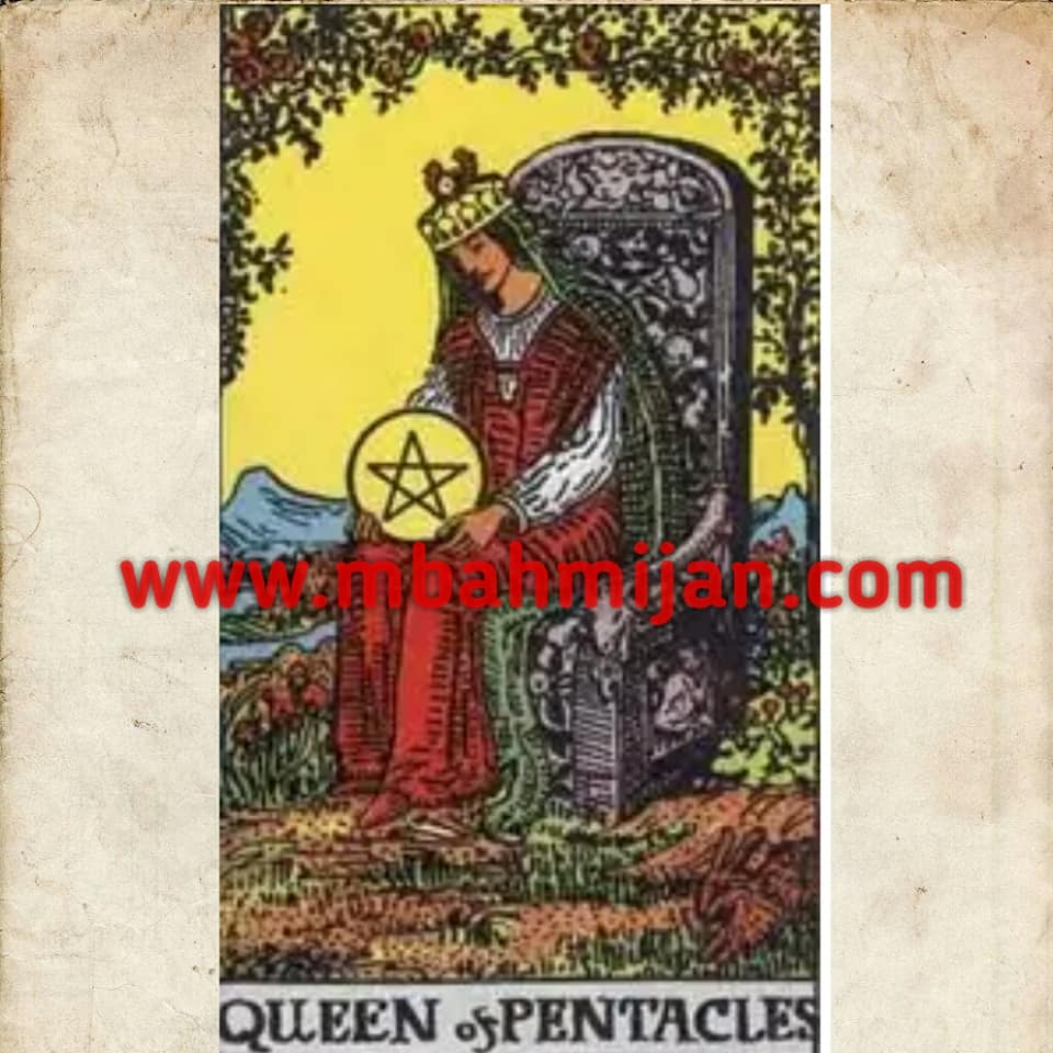 kartu tarot queen of pentacles