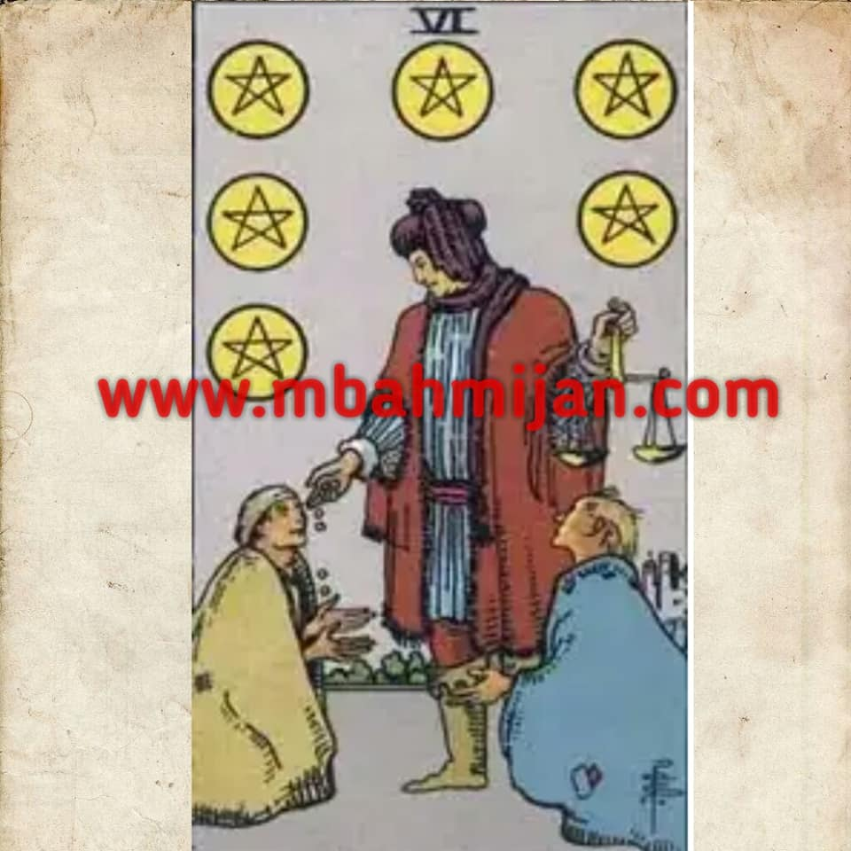 kartu tarot six of pentacles
