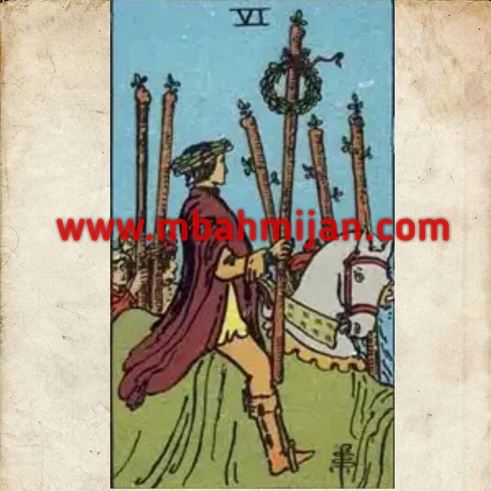 kartu tarot six of wands