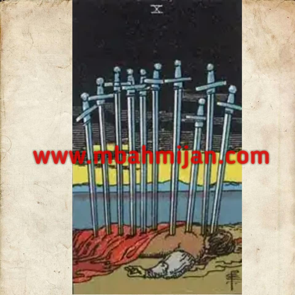 kartu tarot ten of swords