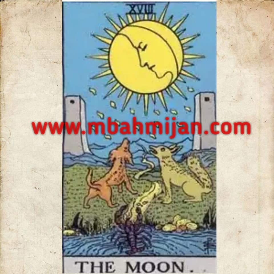 kartu tarot the moon
