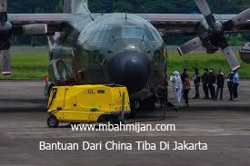 Bantuan Dari China Tiba Di Jakarta